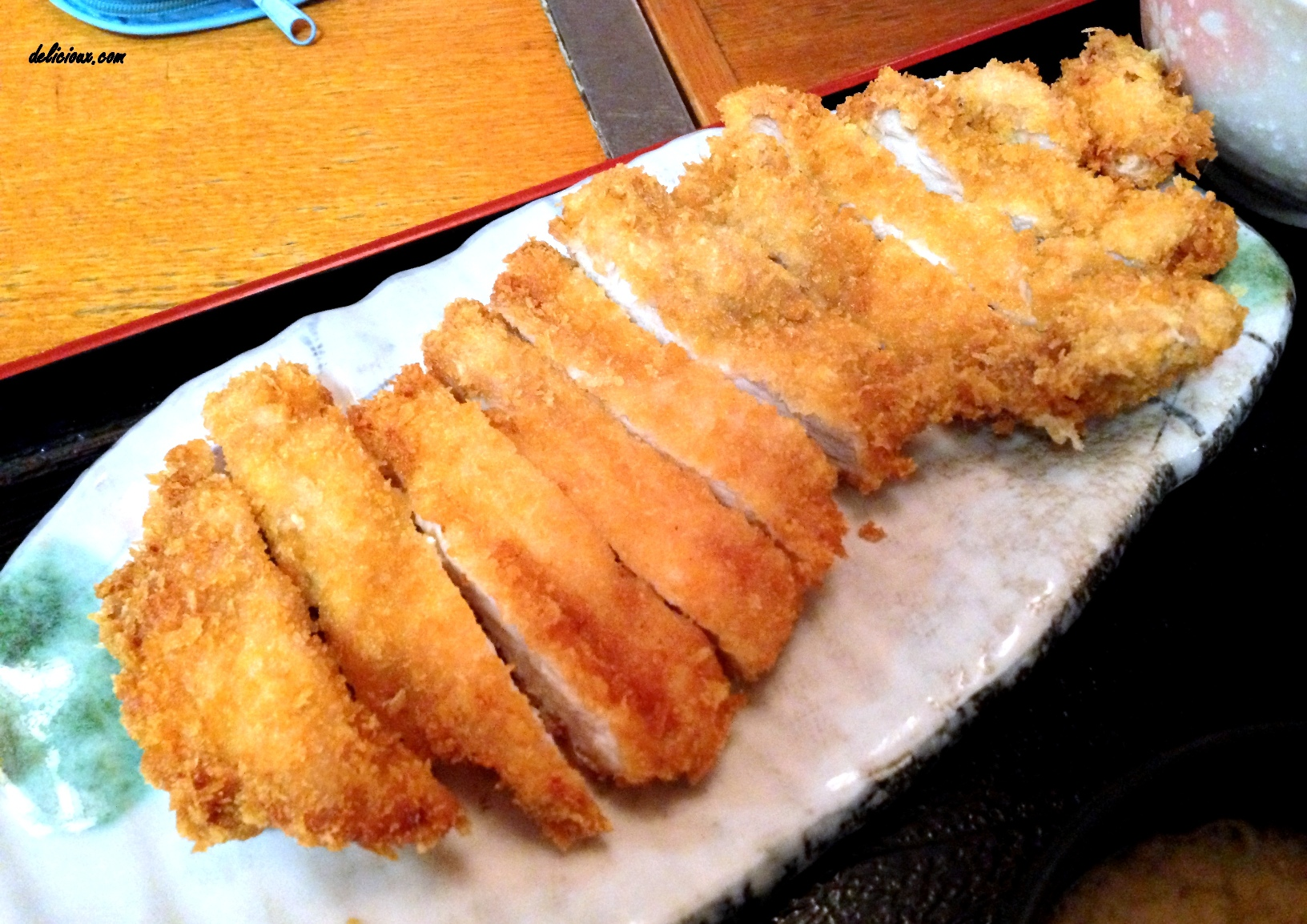 ordered the Chicken Katsu set and it's huge! The deep fried chicken ...
