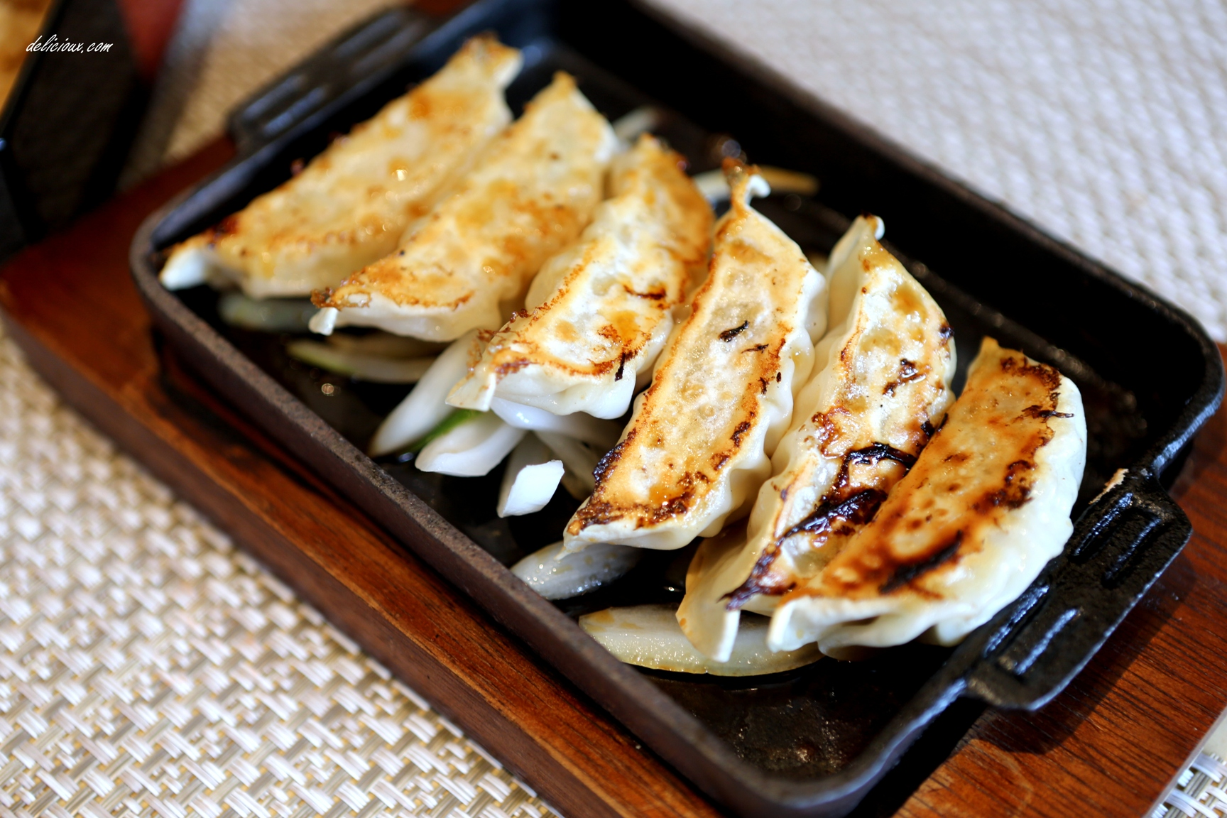Both the salad and rice are as good as the gyoza ! Oishii~~~ we ...