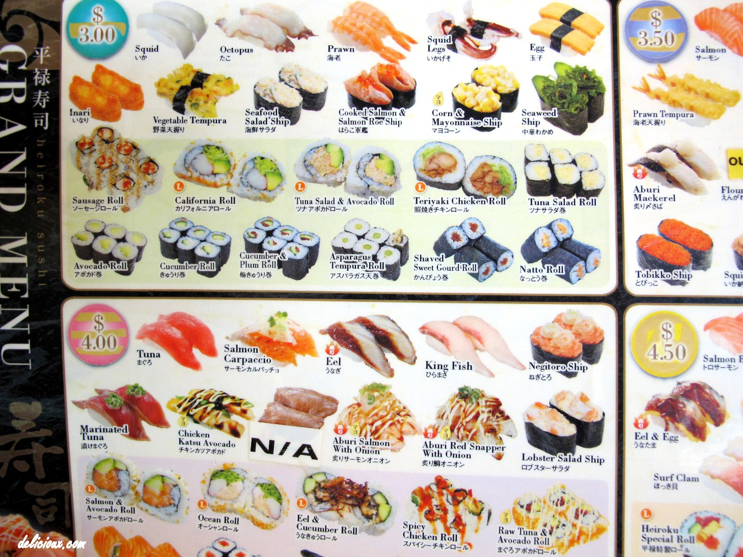 Different types of sushi as background images frompo for Sushi fish names