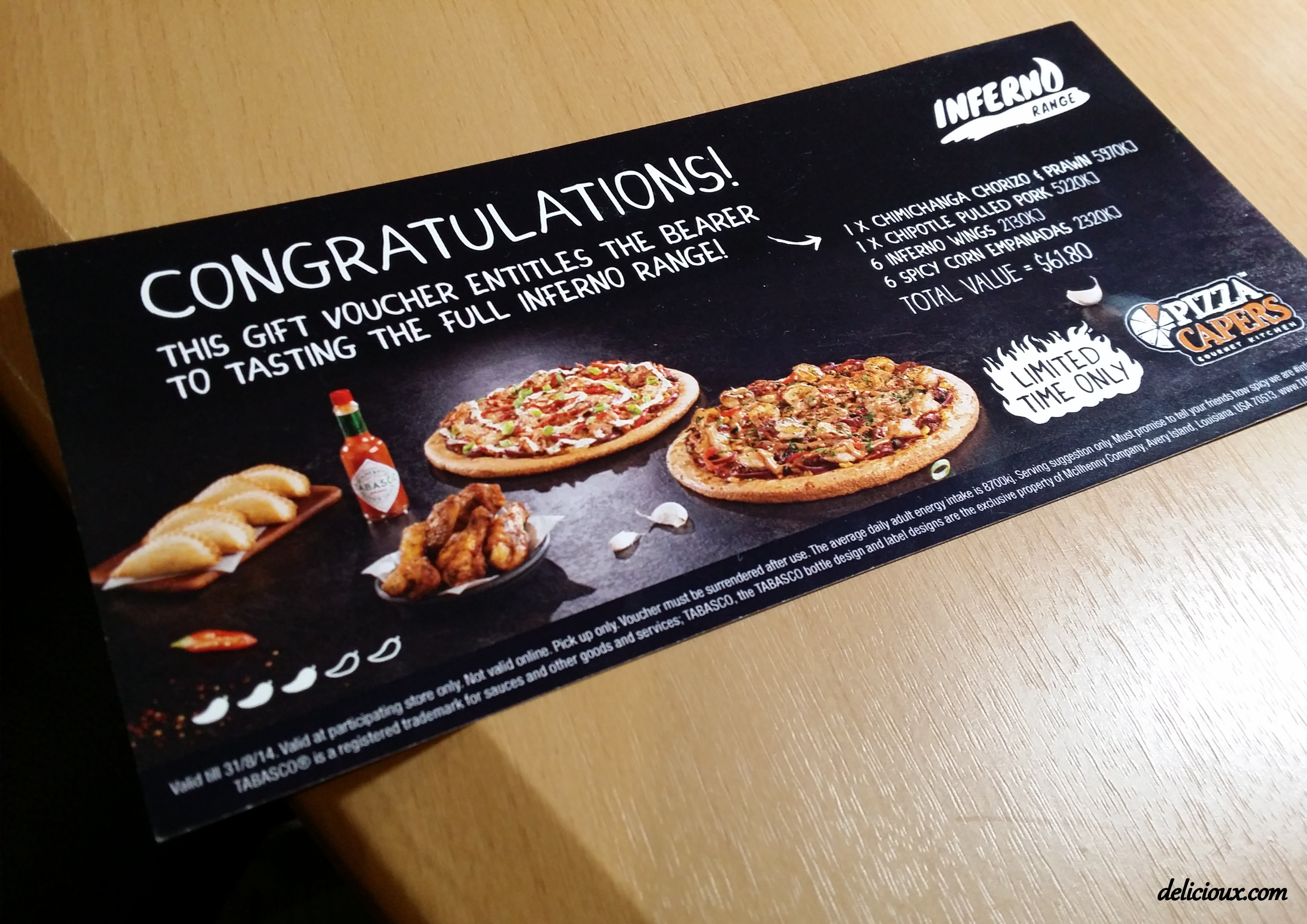 Pizzacapers.com.au Coupons & Offers