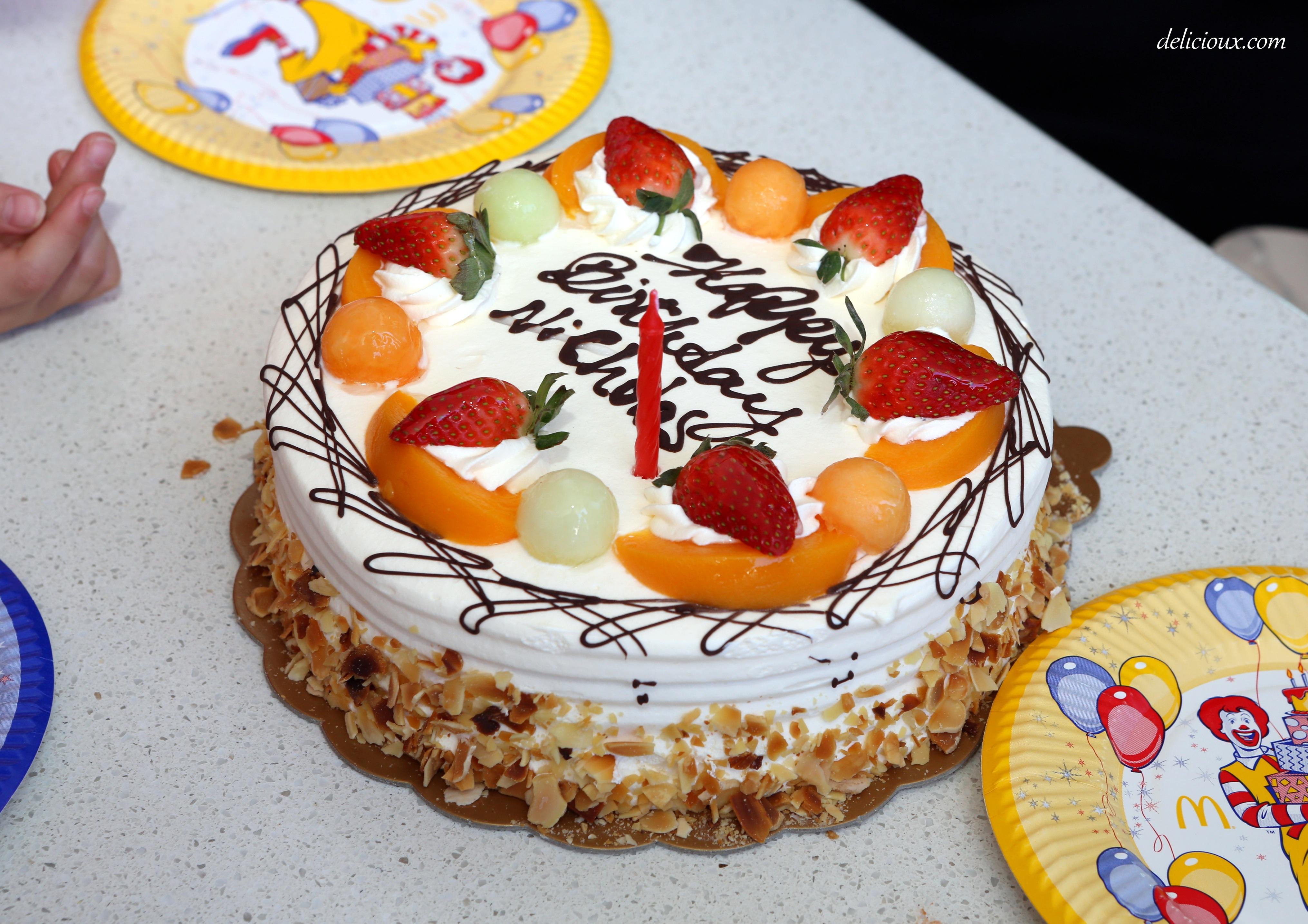 Asian Fruit Birthday Cake  Image Inspiration Of Cake And Birthday - Birthday cake chinese style